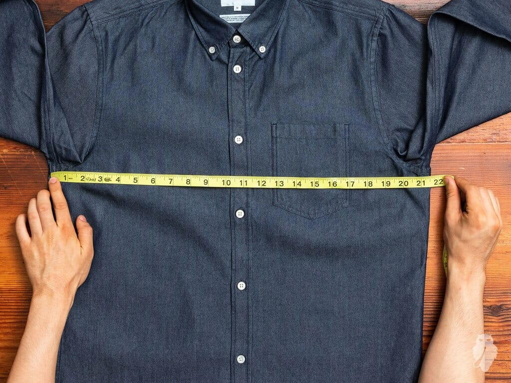 Vintage dealers often measure garments flat