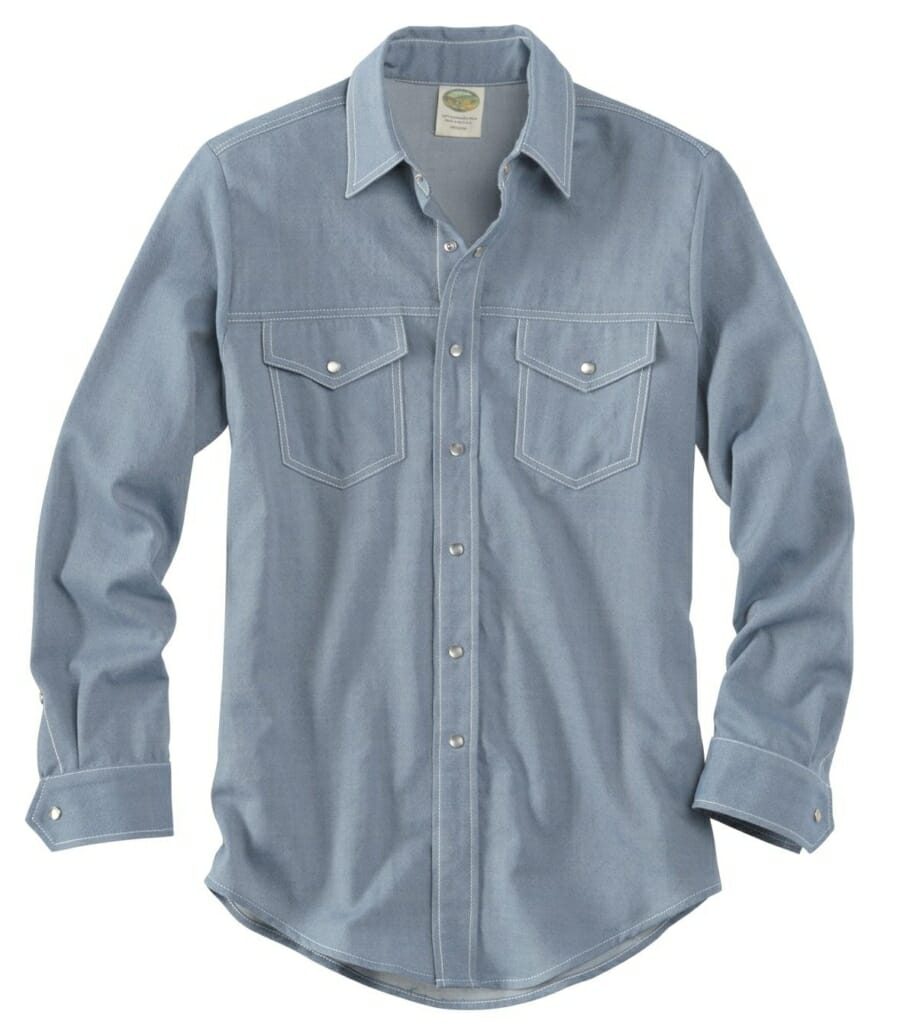 Western shirt with two pockets for a casual look