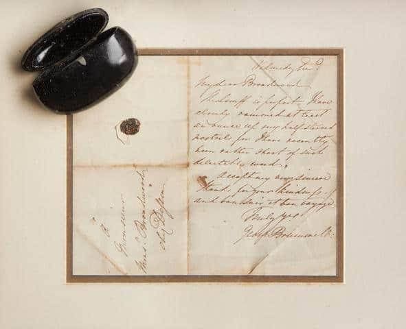 A letter written by Beau Brummell