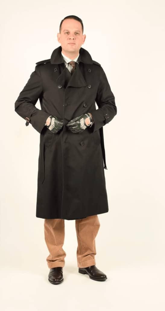 Black Burberry Trench Coat