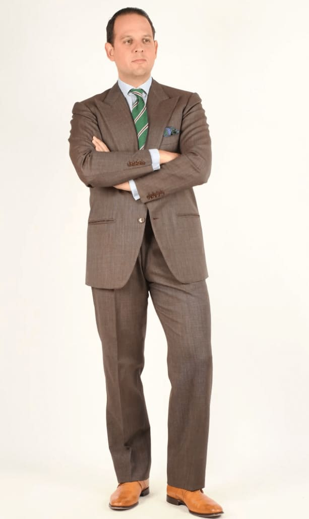 Charcoal Brown Business Suit with a more subtle shade of shoes