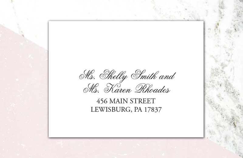 Envelope addressed to same-sex couple