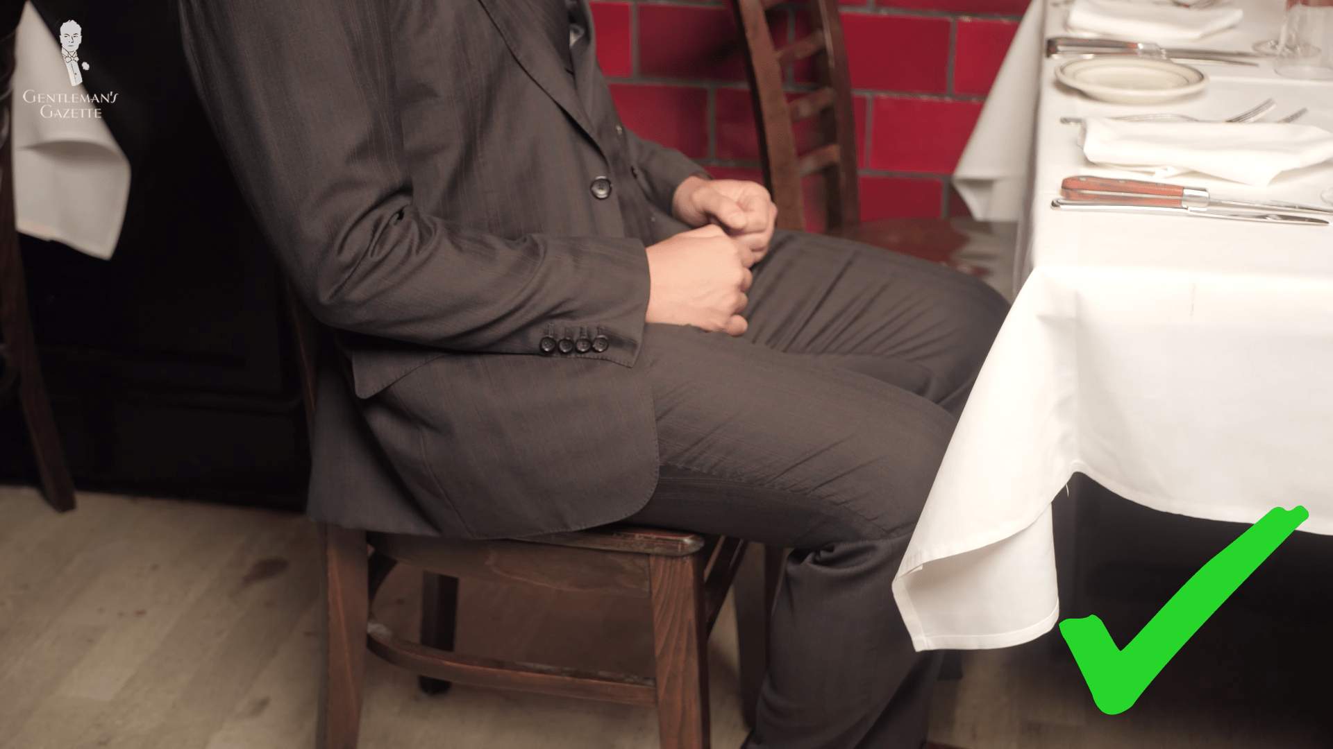 How to properly sit at a restaurant