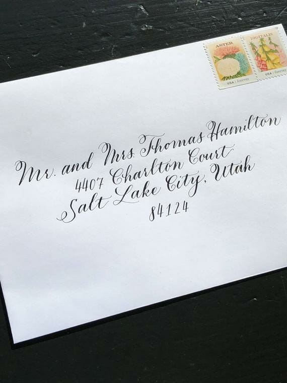 Traditional of addressing an envelope to a married couple