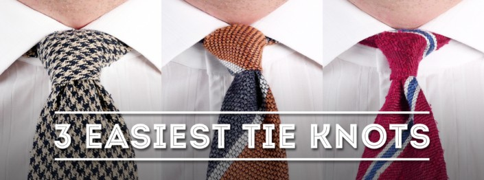 3 Easiest Tie Knots for Beginners - Use These Simple Necktie Knots