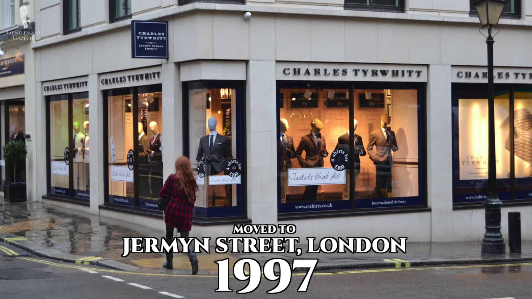 Charles Tyrwhitt moved its flagship store to Jermyn Street in 1997.