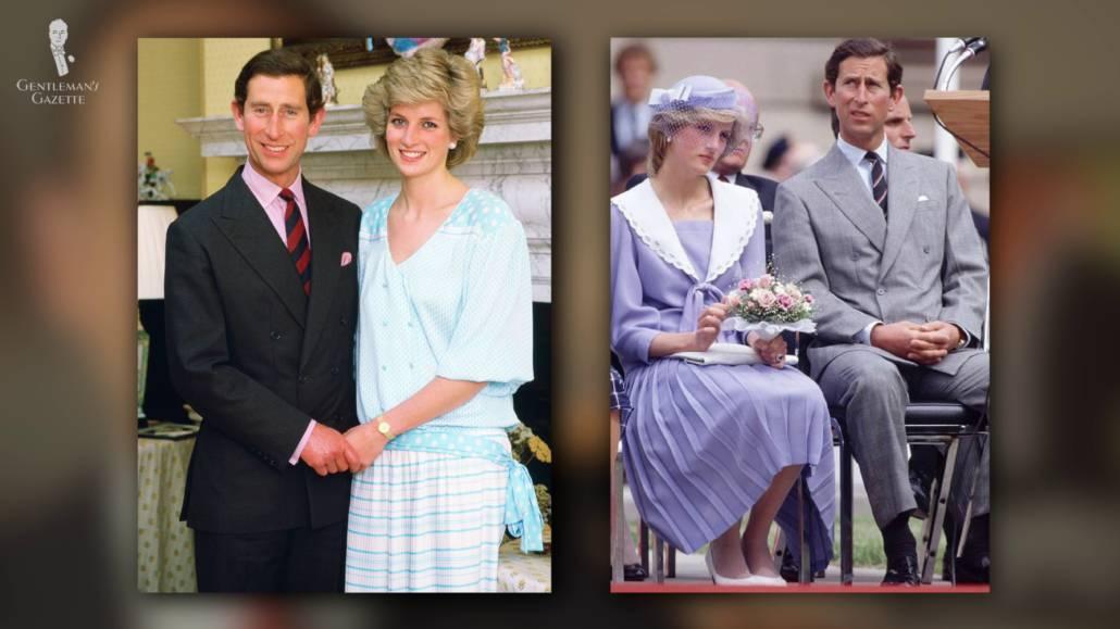 Prince Charles and the late Princess Diana