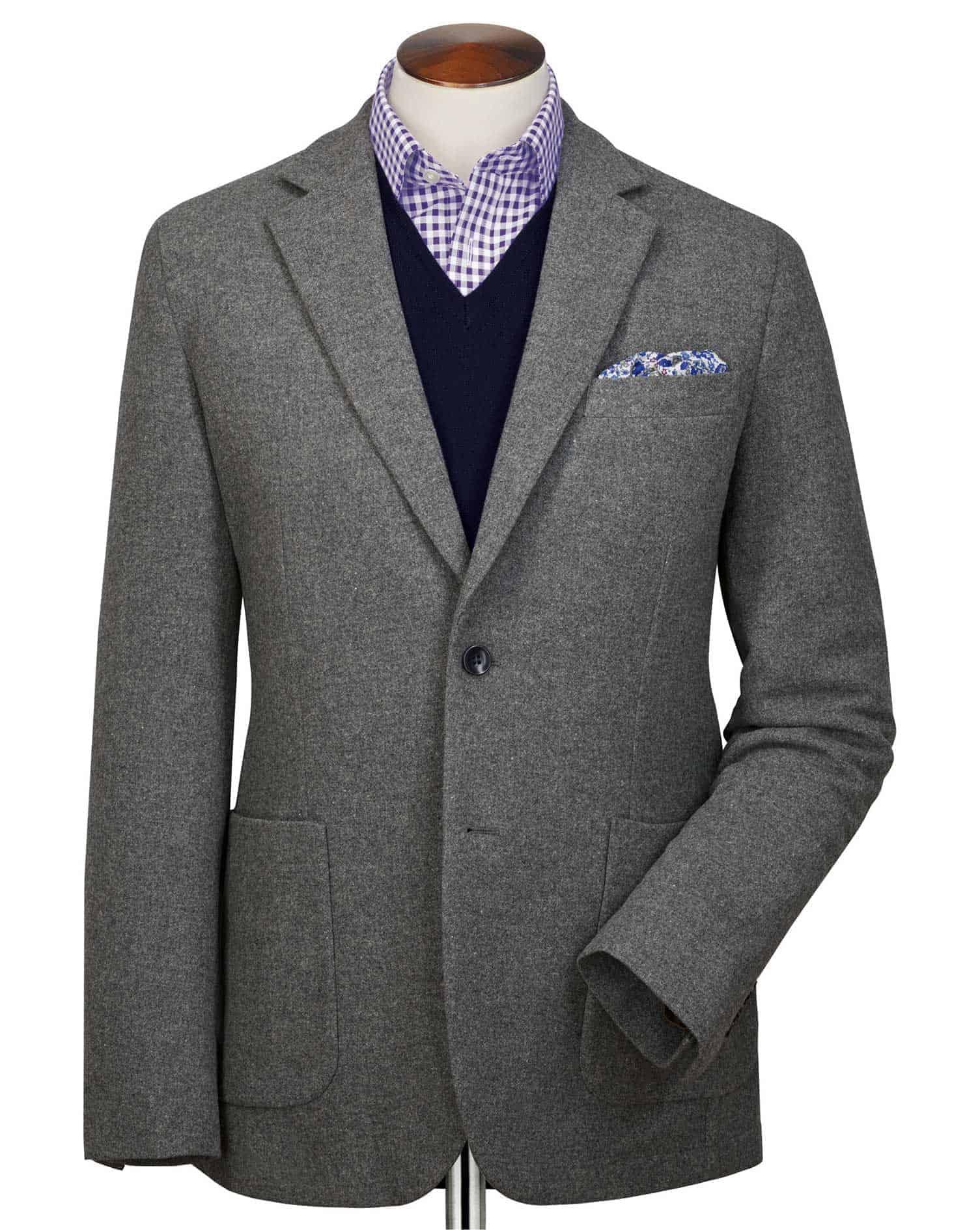 Tyrwhitt Gray Wool Sport Coat