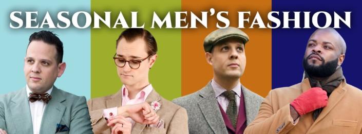 seasonal men's fashion banner