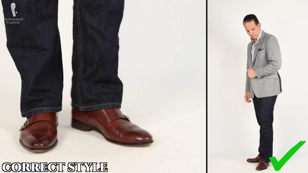 Blue jeans shoes color