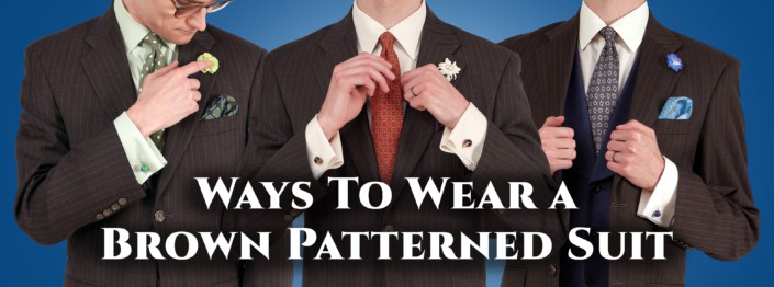 Ways to wear a brown patterned suit cover