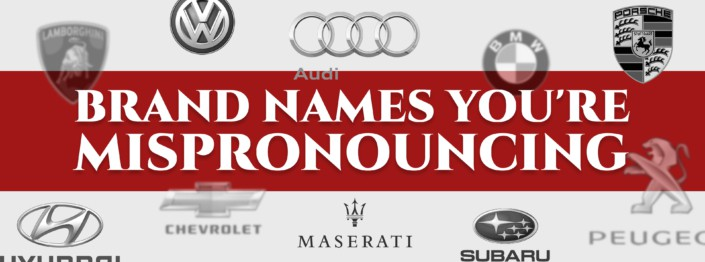 car brands you're mispronouncing cover
