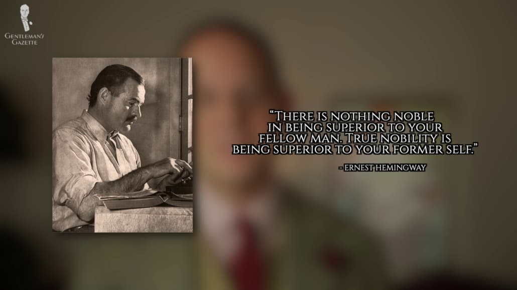 A great quote by Ernest Hemingway.