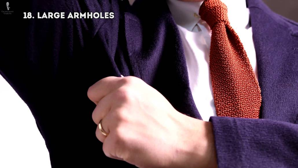 Large armholes - unsightly and uncomfortable