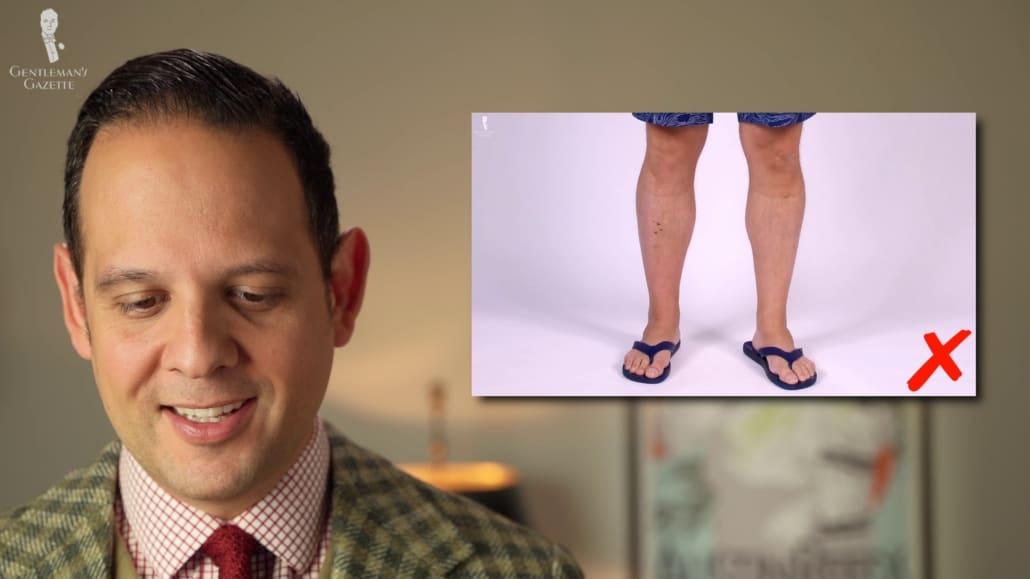 Raphael reacts to flip flops