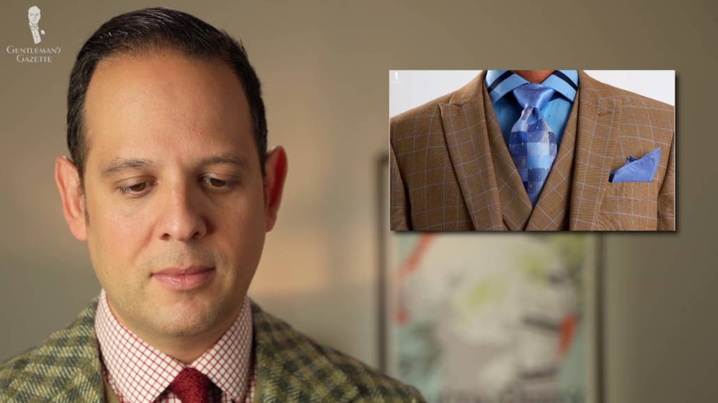 Raphael reacts to Windsor knot.