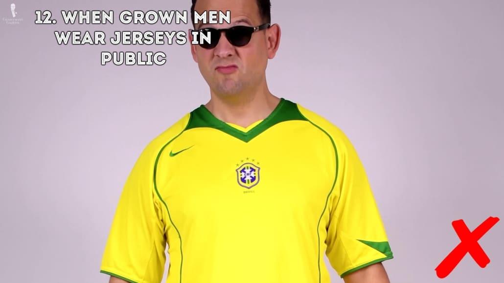 wearing jersey in public