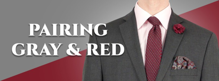 How To Pair Gray & Red Cover pic with a gray and red outfit combination