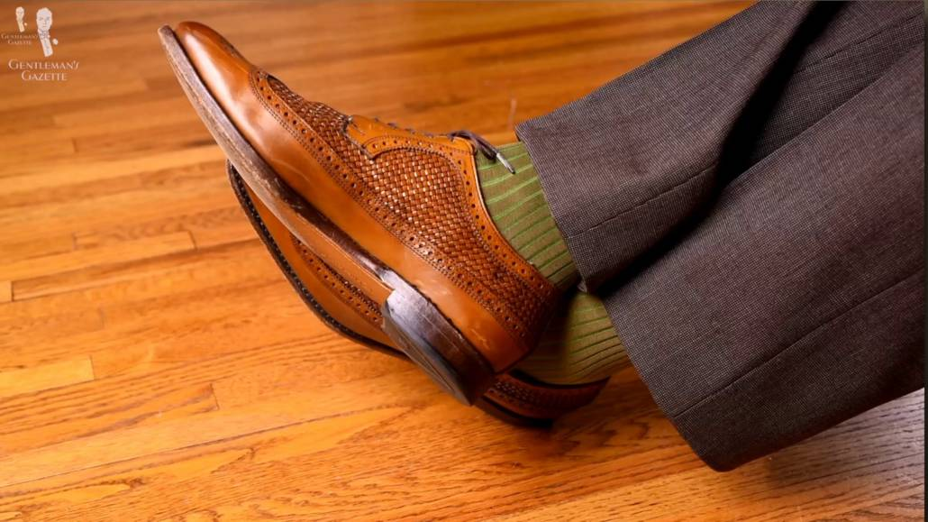You can opt for a perforated leather shoes for a more formal look during summer.