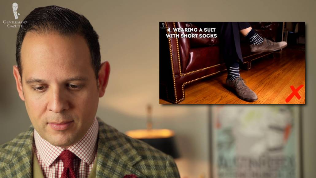 Suits and short socks - just not appropriate.