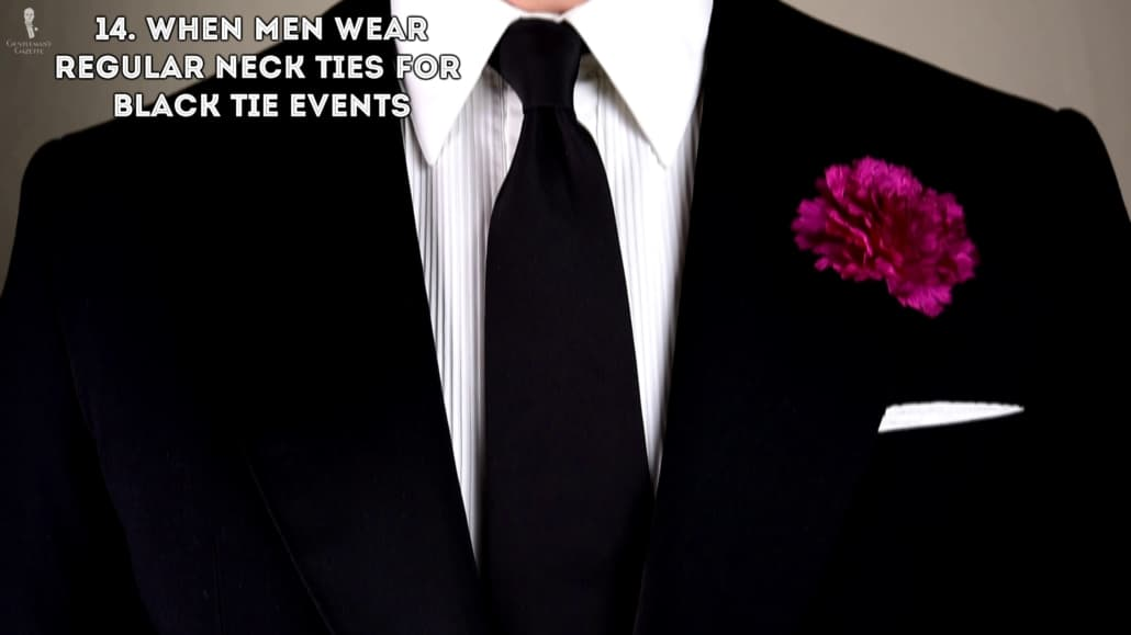 Regular ties are not for black tie events.