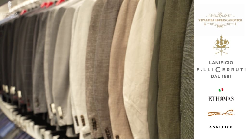 Some of the fabrics available in Suit Supply showroom