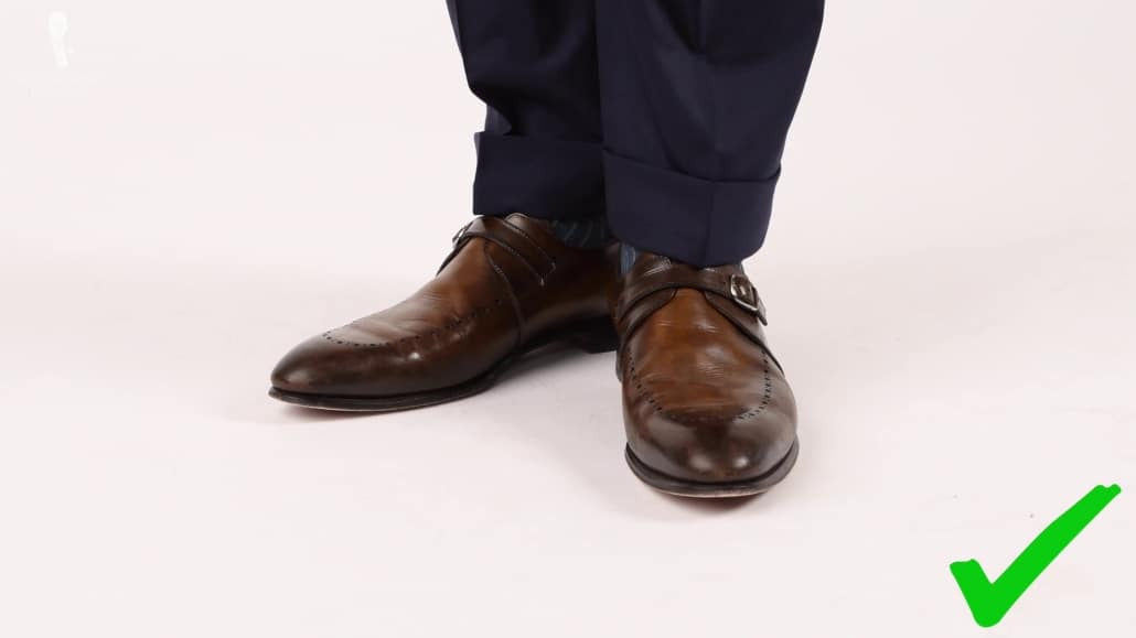 A classic pair of dress shoes is the ideal companion of a suit.