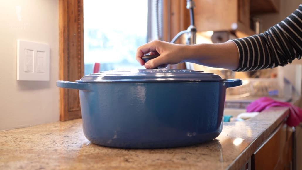 You can give a fine cookware such as a Dutch oven pot as a gift to someone who loves cooking.