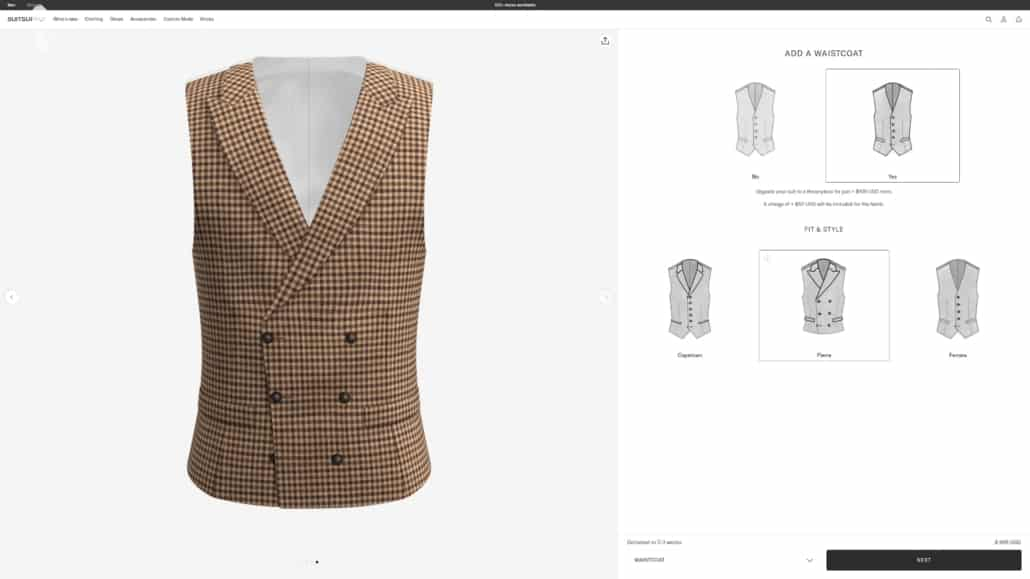 Suit Supply's selection of waistcoat styles