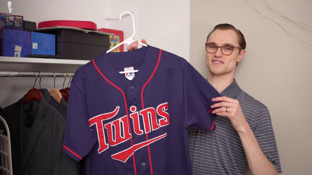 Preston showing his MN Twins jersey