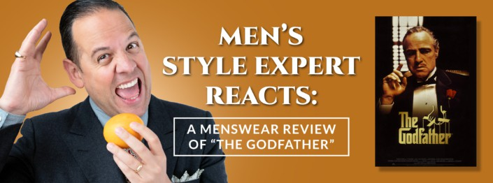The Godfather men's style reaction banner