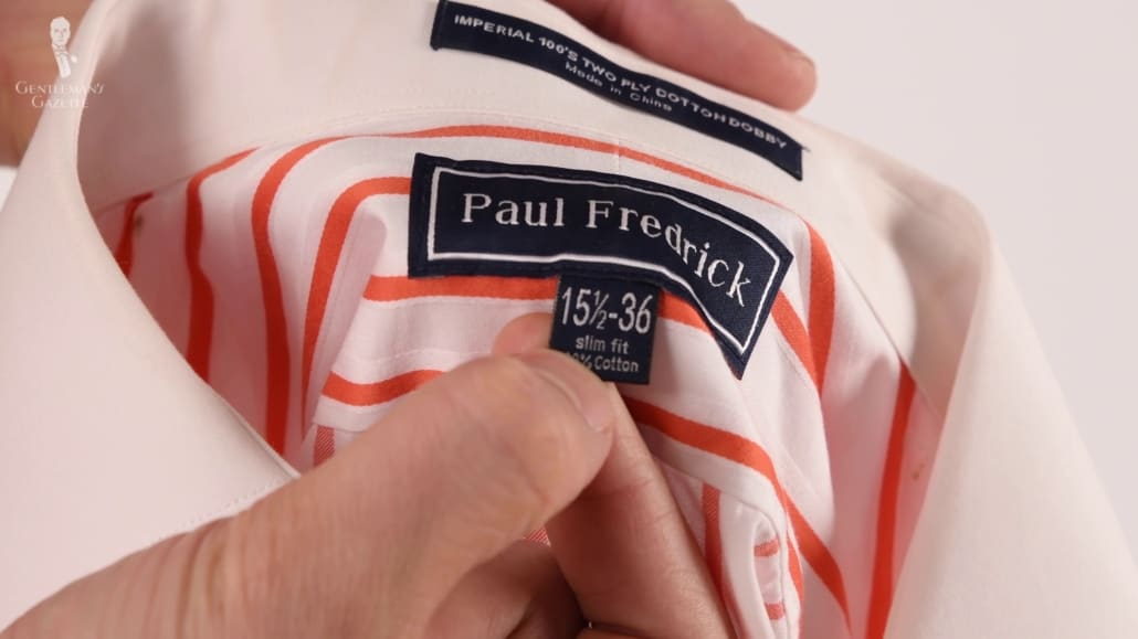 Not all dress shirt brands have the same sizing