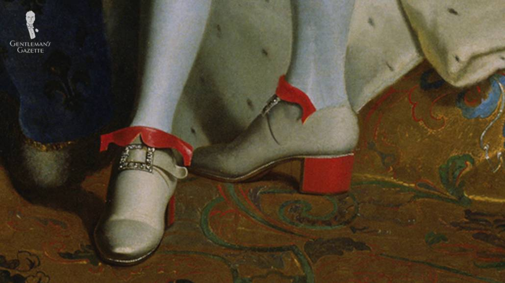 Heeled shoes during the Renaissance.
