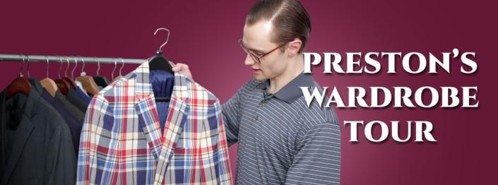 Preston's wardrobe tour banner