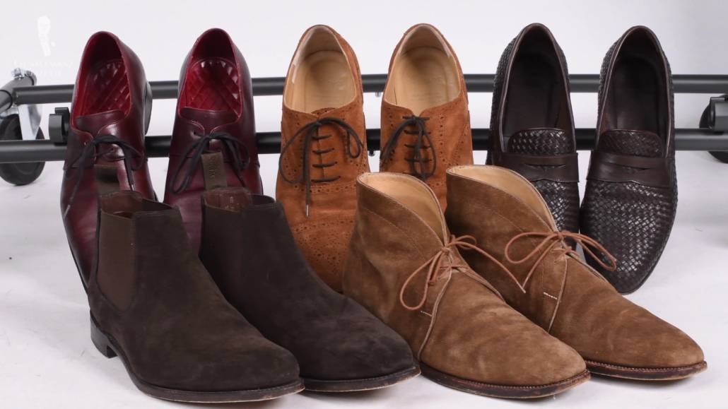 shoe collection - Suedes, loafers, ankle boots, oxfords