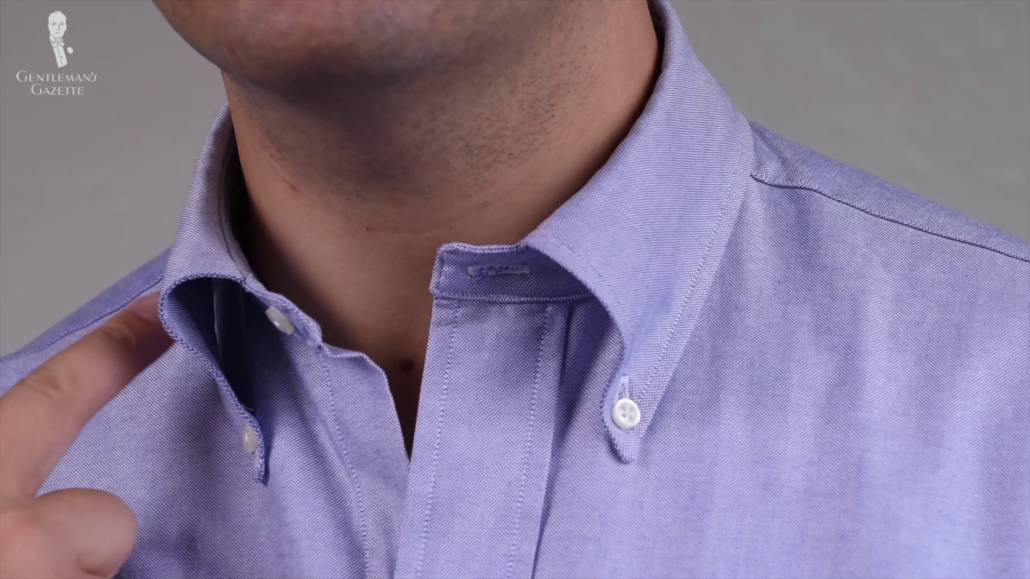 An unlined collar isn't advisable for a more formal shirt, but would work with a button-down collar shirt.