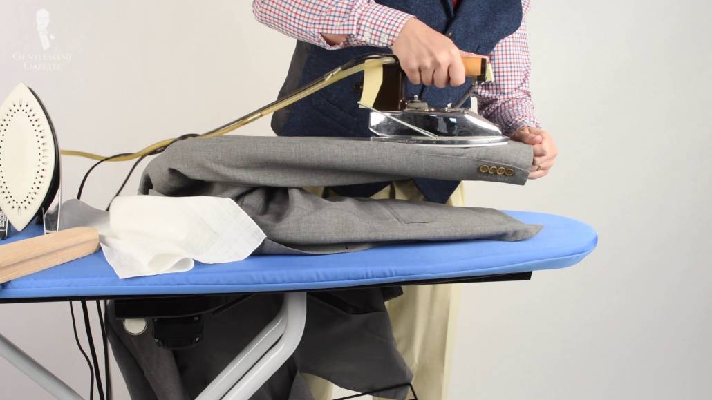 For around $12, any gentleman can add a cheap-but-awesome sleeve ironing board to his collection.