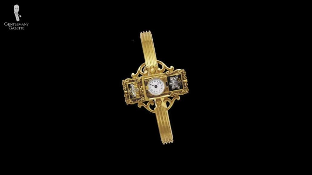 The first wristwatch made in 1868 by Patek Philippe
