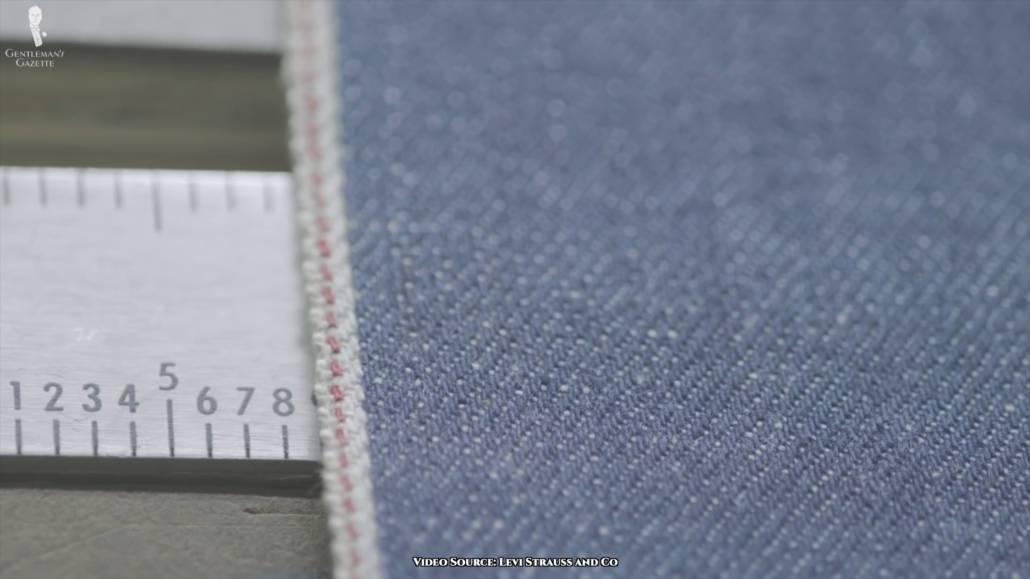 501 denim cotton fabric