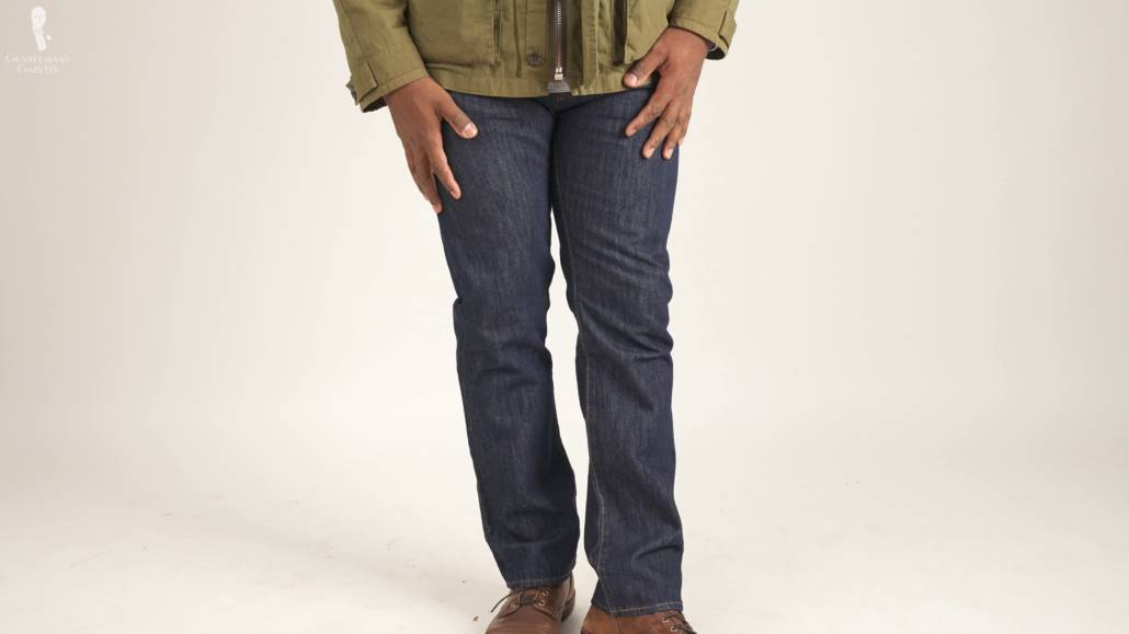 501 Levi's straight cut jeans