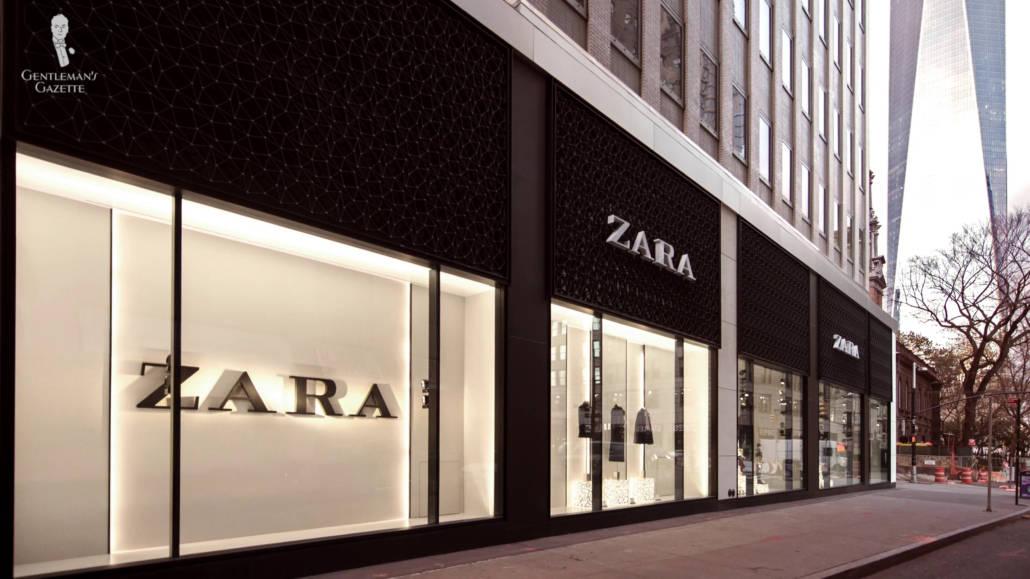 A snap shot of a Zara physical store