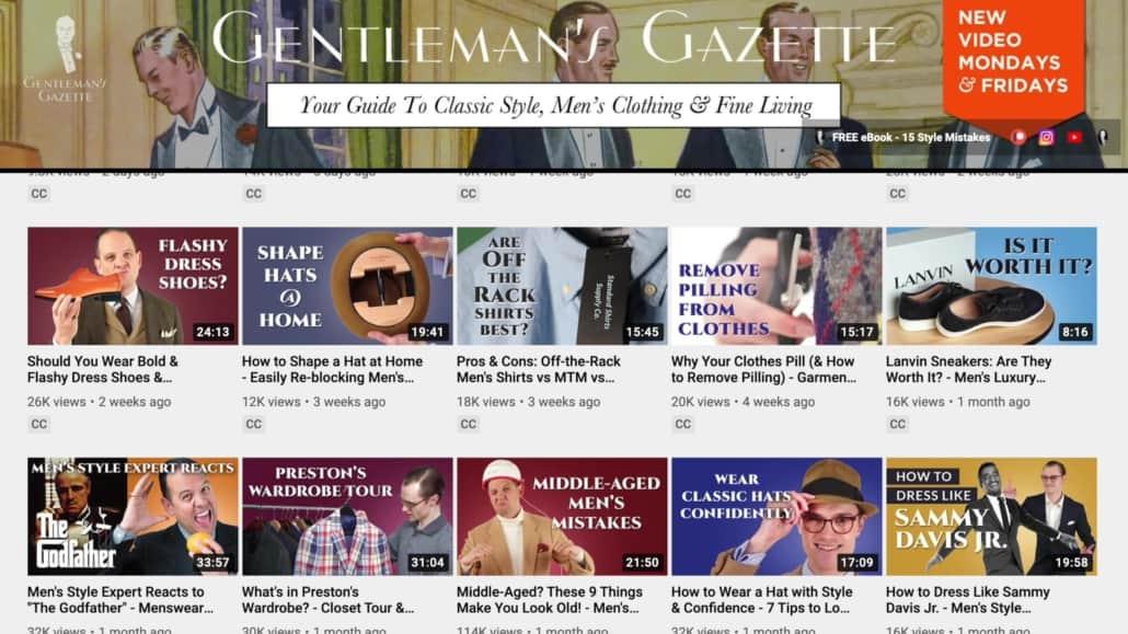 Gentleman's Gazette Youtube Channel
