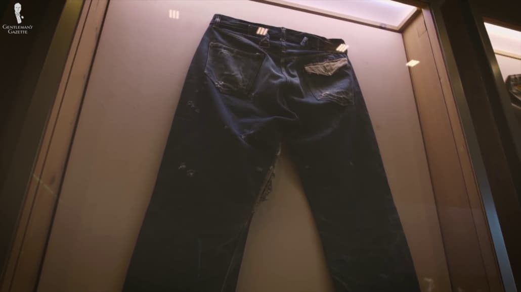 Levi's jeans - the ideal workwear on a display case