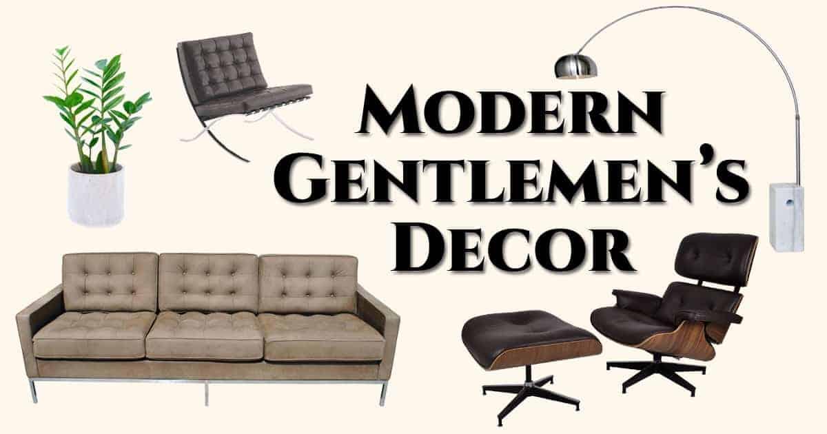Modern Interior Design Classics For Gentlemen